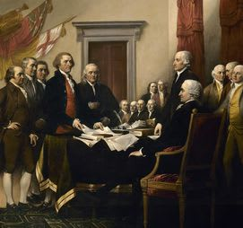 The Declaration of Independence was signed