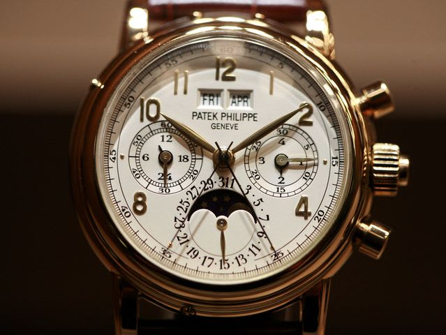 "The exhibit is called ""The Art of Watches Grand Exhibition New York"" and is sponsored by Patek Philippe."