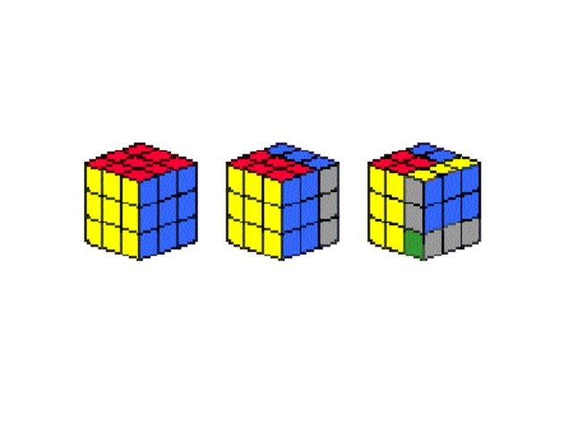 Which one of the Rubik's cube below can be part of the sequence?