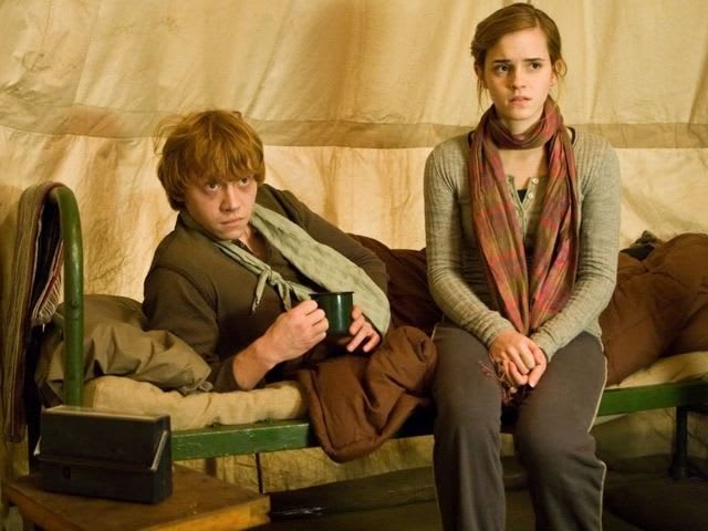 Who found Harry, Ron, and Hermione in the woods in The Deathly Hallows?