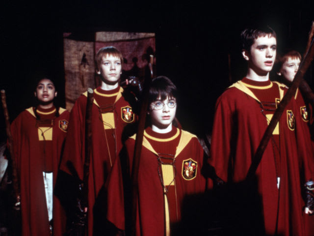 Who was the quidditch commentator in Harry's first years at Hogwarts?