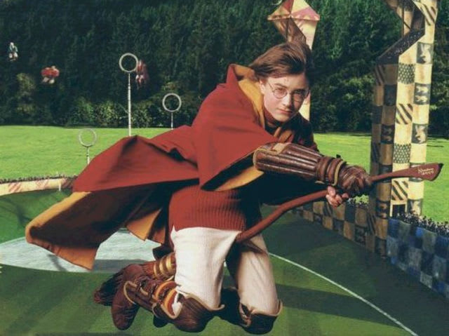 What was Harry's first broomstick?
