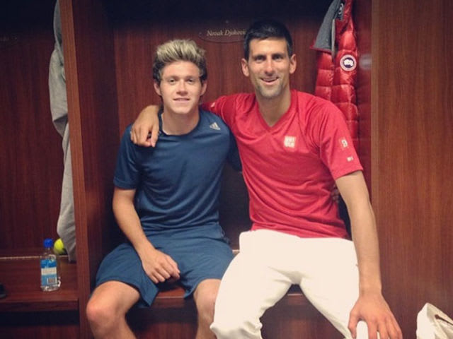 Djokovic once had to get One Direction singer Niall Horan ejected from an ATP Tour event because he couldn't get him to leave his locker.