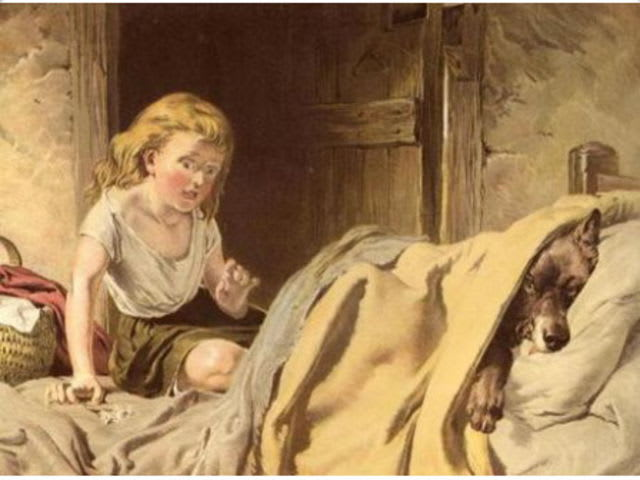 The little heroine known today as Little Red Riding Hood was called what in the original Grimm tales?