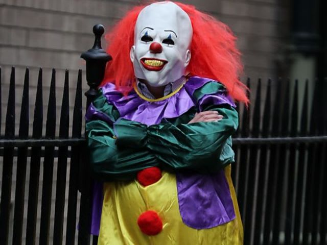 You're walking down the road, and come across this creepy clown. What do you do?