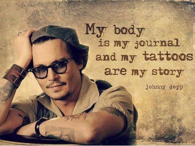 How many tattoos does Johnny Depp have?