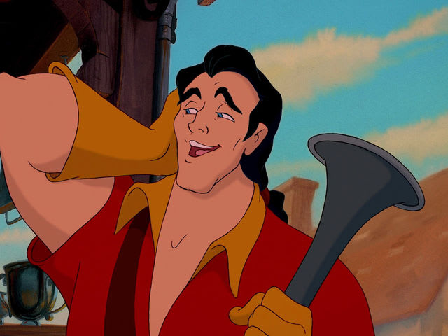 How does Gaston catch up to Belle?