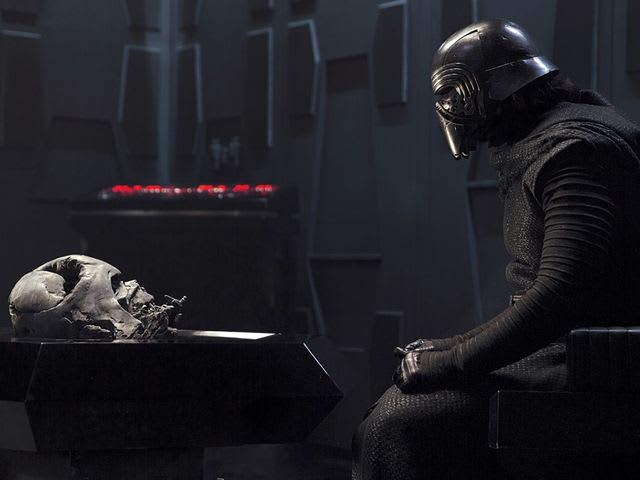 Kylo Ren is following in his grandfather, Darth Vader's, footsteps.