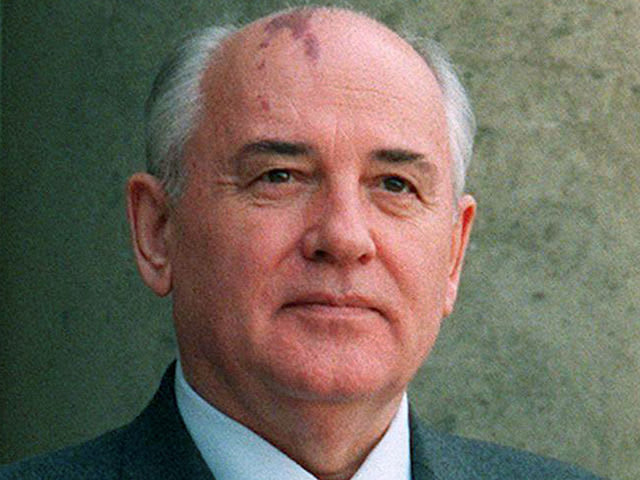 It's Mikhail Gorbachev, who helped end the Cold War!