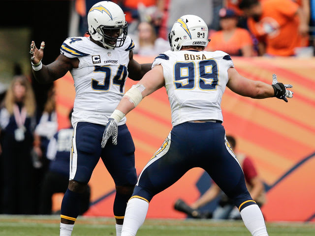 Joey Bosa and Melvin Ingram have combined for 18 sacks for the Chargers.