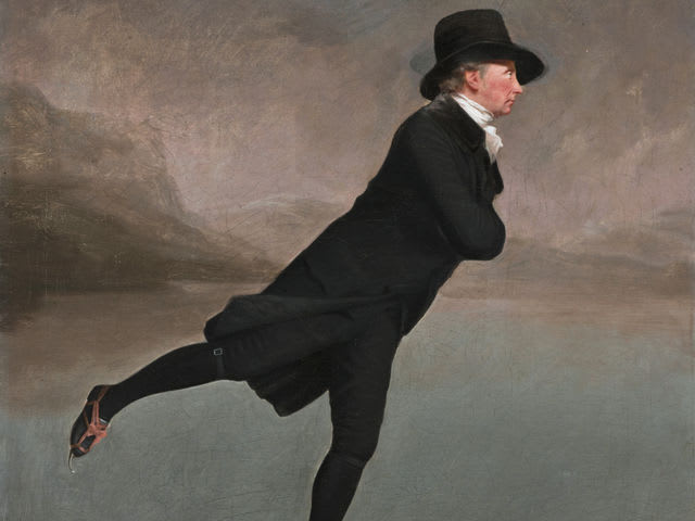 It's The Reverend Robert Walker Skating on Duddingston Loch, better known as The Skating Minister!
