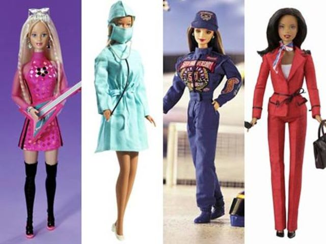 How many careers has Barbie had since her debut?