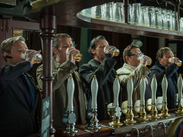 "In ""The World's End,"" how many pubs do they intend to visit for their pub crawl?"