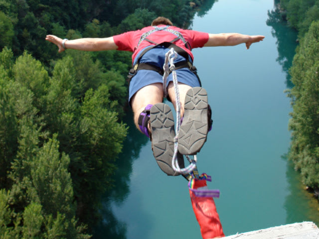 Your friend wants to go bungee jumping for their birthday. Do you...