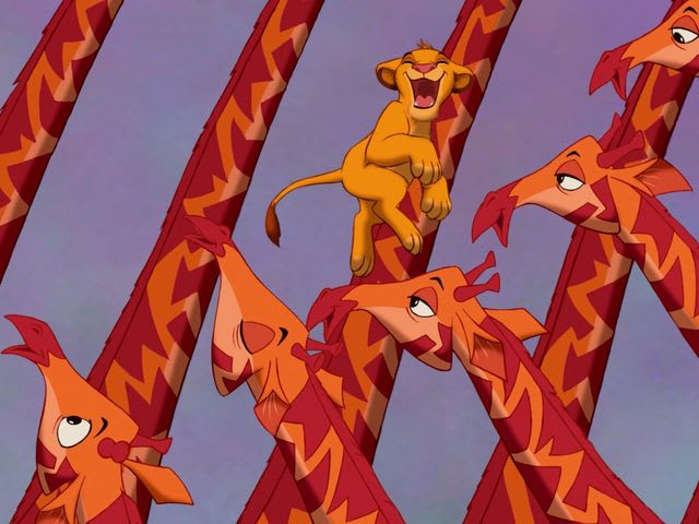 Let every creature go for broke and sing / Let's hear it in the herd and on the wing / It's gonna be King Simba's...