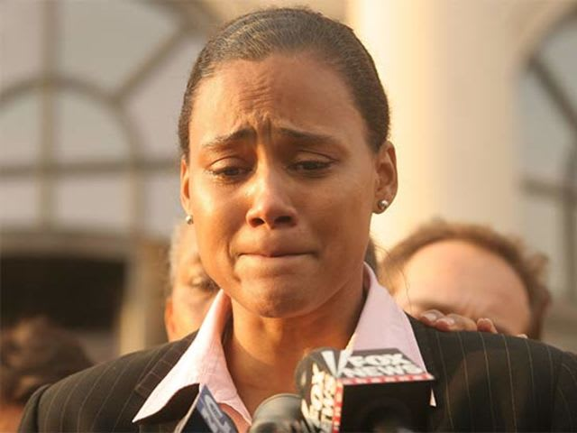 Marion Jones! Unfortunately for Marion, she lied to federal agents which does NOT go over well! In fact, she got 6 months and a bucket full of public humiliation. Eishhhhh...