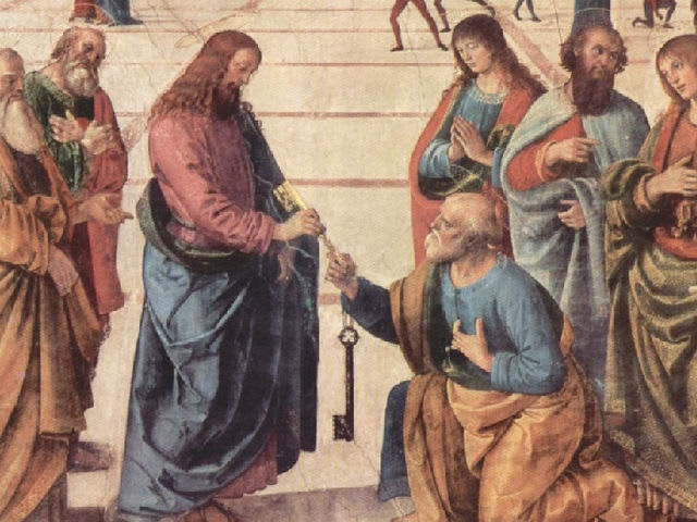 Peter receives the Keys to the Kingdom of Heaven.