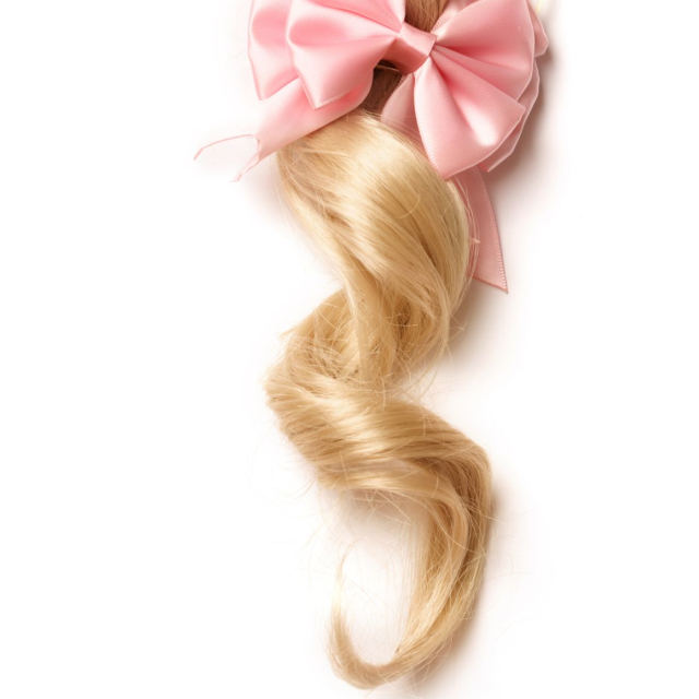Big ribbon for ponytail
