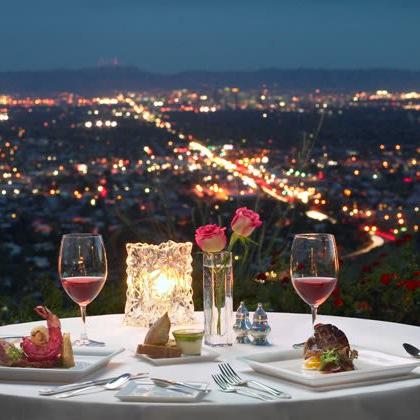 Dinner at a fancy restaurant