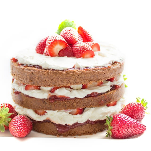 With cake