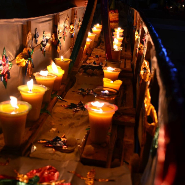 Candlelit boats