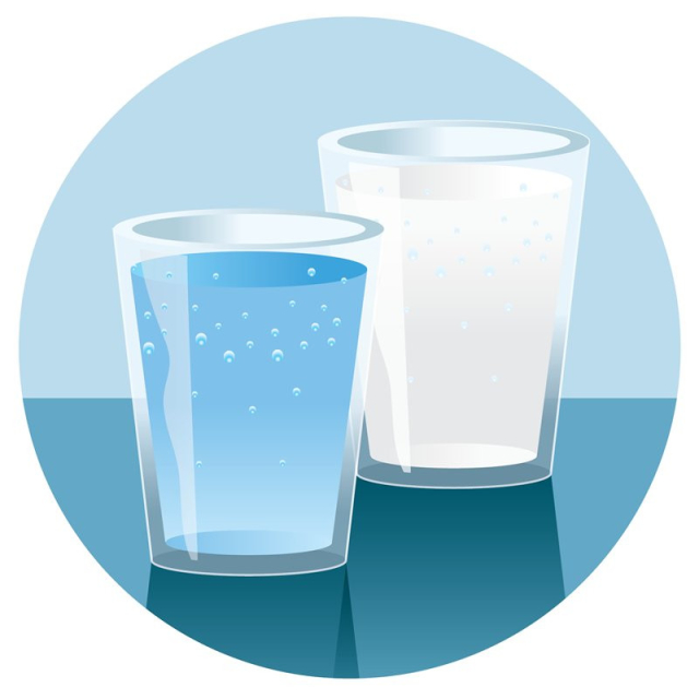 Water/milk; plain and simple