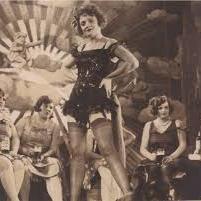 Enjoying something bubbly in a decadent Berlin cabaret
