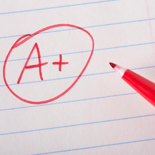 Getting a high grade on an assignment