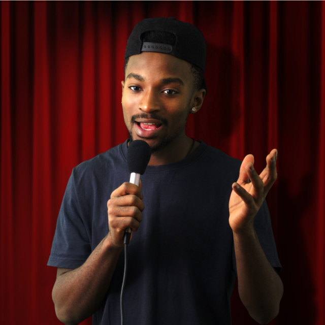 A stand-up comedy show