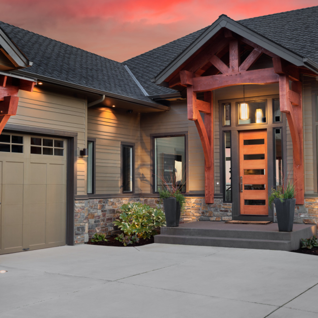 a modern lodge cabin