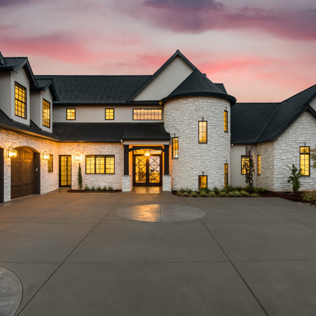 big, luxury house with all the bells and whistles