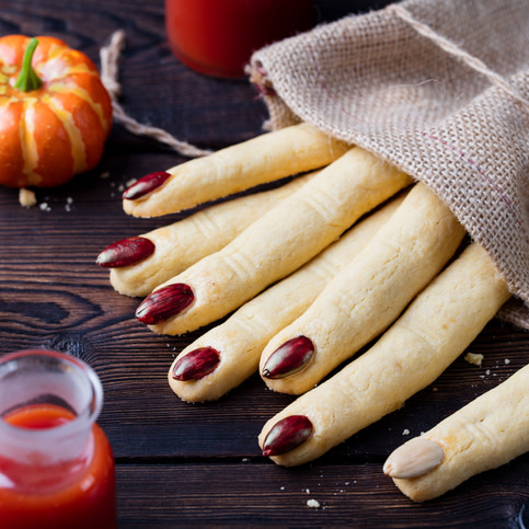 Witch's fingers cookies