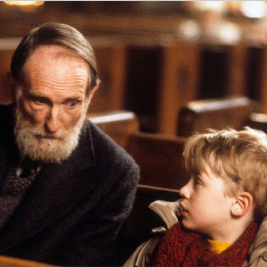 A Grandfather Visits his Granddaughter in Home Alone