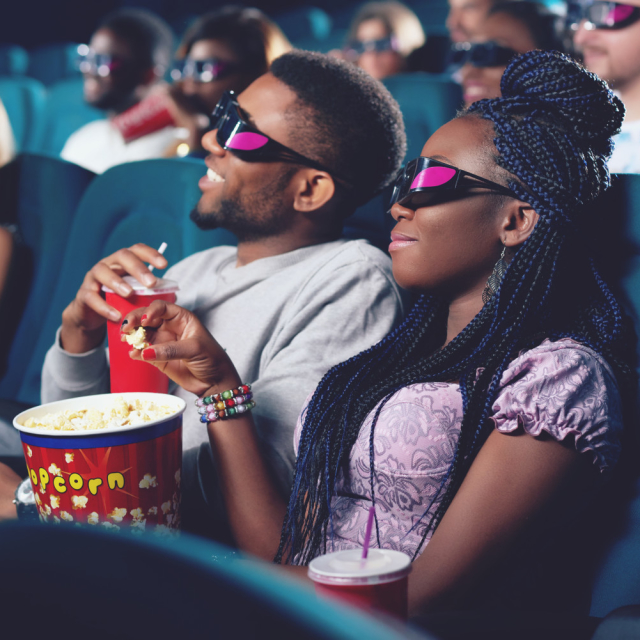 Movies! No talking means no awkward conversation pauses to worry about