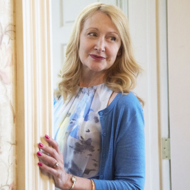 Patricia Clarkson minus the poison, but with the scary manicure