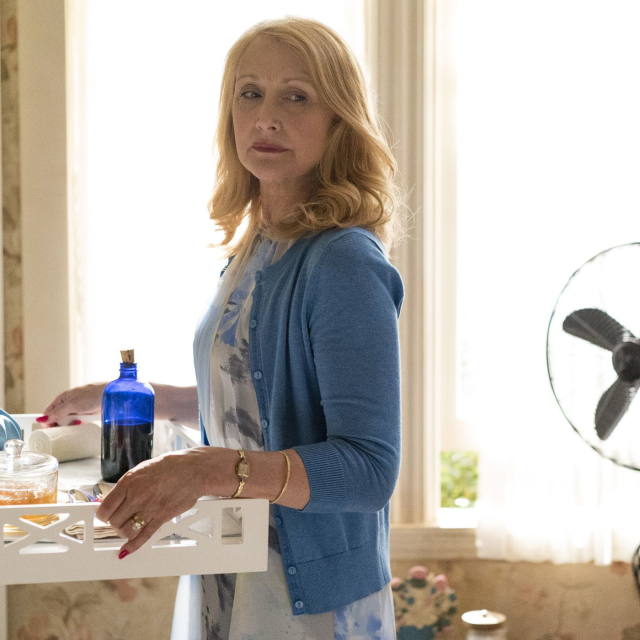 Patricia Clarkson minus the scary manicure, but with the poison
