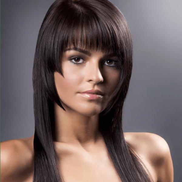 Брюнетки,  длинные волосы
