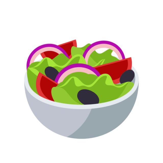 Salad I mean you gotta eat healthy
