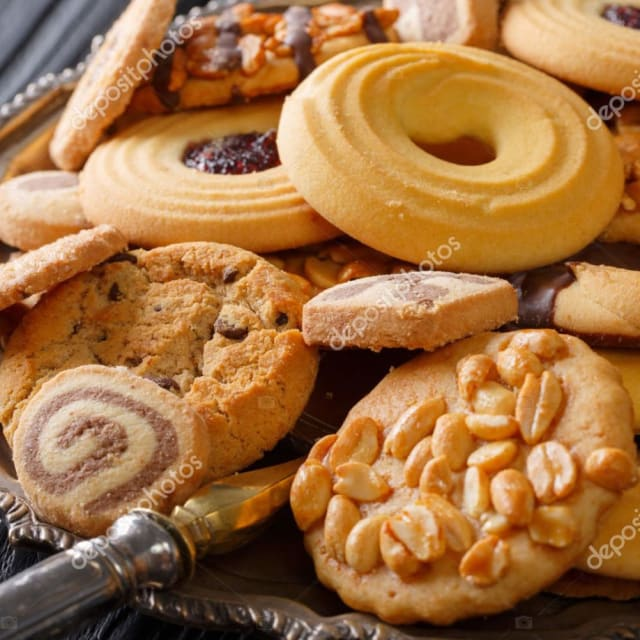 Mixed cookies and biscuits