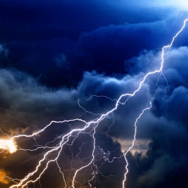 Lightning: symbol of initiative and insanity
