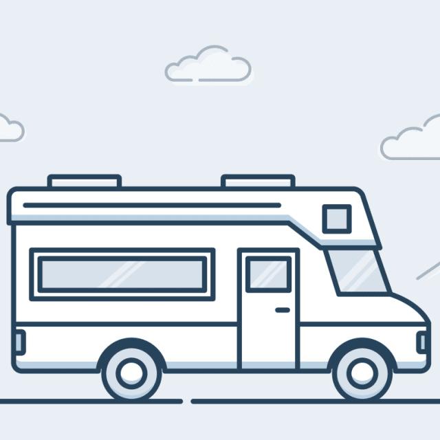 An RV trailer