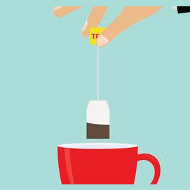 No food, just a cup of tea