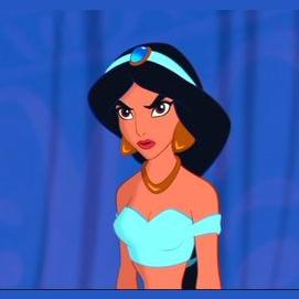Blue princess Jasmine