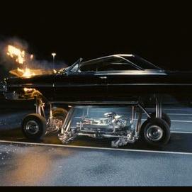 High-tech car of the future
