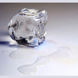 Just a cube of ice will do me fine