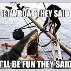 Get a boat they said. It'll be fun they said.