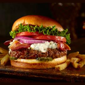 A nice juicy burger.