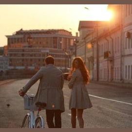 Taking romantic strolls