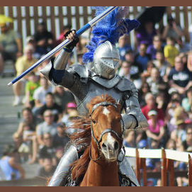 Watching a jousting match