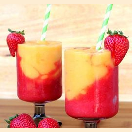 Strawberry and Peach Pick-Me-Up